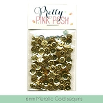 6mm Metallic Gold Sequins