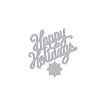 Holidays Message Fancy Die