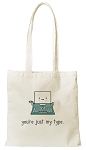 Just My Type Tote Bag