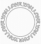 Love You Circle Frame Die-namics