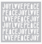 Peace, Love, and Joy Stencil