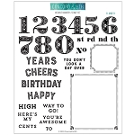 Notable Numbers Stamp Set