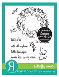 Butterfly Wreath Stamp Set