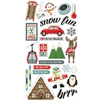 Sub Zero Chipboard Stickers