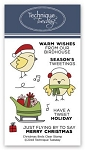 Christmas Birds Stamp Set