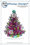 Christmas Tree Rubber Cling Stamp
