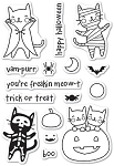 Halloween Costume Cats Stamp Set