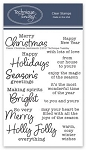 Classic Christmas Sentiments Stamp Set