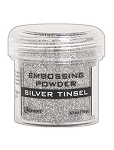 Embossing Powder Silver Tinsel