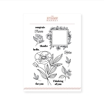 Framed Floral Stamp Set