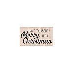 Merry Little Christmas Wood Stamp