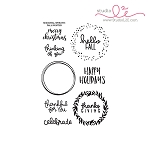 Seasonal Wreath: Fall/Winter Stamp Set