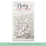 Mini Sparkling Clear Flower Sequins