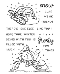 Frosty Fun Penguins Stamp Set