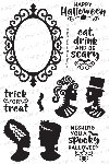 Creepy Cameos Stamp Set