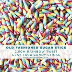 Old Fashioned Sugar Stick Clay Embellishments