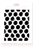 Painted Polka Dot Background Stamp