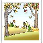 Autumn Scene Stamp Set