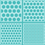 Polka Dot Background Stencils