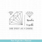 Shine Bright Like a Diamond Stamp Set
