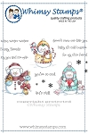 Snowman and Friends Rubber Cling Stamp