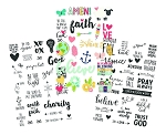 Faith Clear Stickers