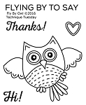 Fly By Owl Stamp Set