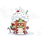 Teeny Tiny Townie Gingerbread House Stamp Set