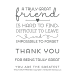 Truly Great Friend Stamp Set