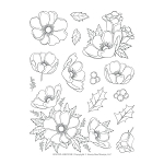 Winter Anemone Stamp Set