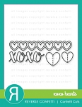 XOXO Hearts Confetti Cuts Die