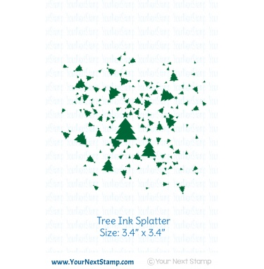 Tree Ink Splatter Stamp