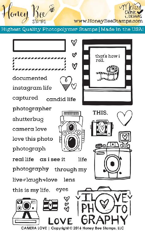 Camera Love Stamp Set