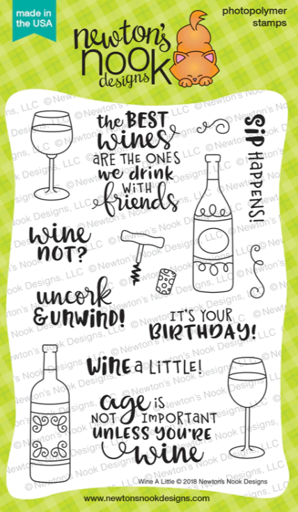 Wine A Little Stamp Set