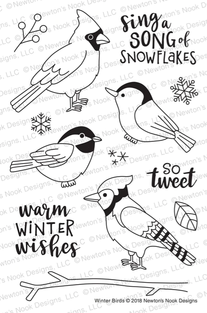 Winter Birds Stamp Set