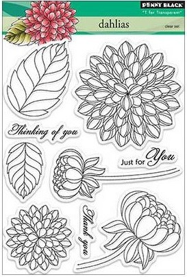 Dahlias Stamp Set
