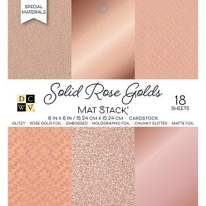 Rose Golds 6x6 Cardstock Stack