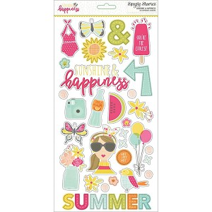 Sunshine & Happiness Chipboard Stickers