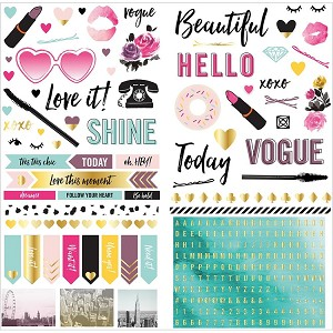 Urban Chic Accent 6x12 Stickers