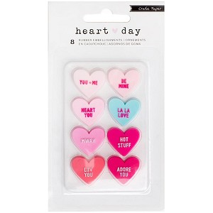 Heart Day Candy Hearts Rubber Shapes