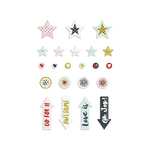Dream Big Icons Puffy Stickers
