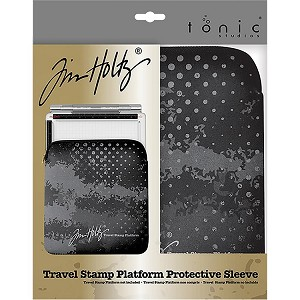 Travel Stamp Platform Zipper Sleeve
