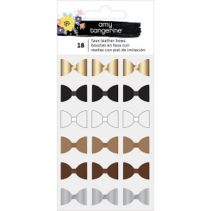 Shine On Mini Faux Leather Bow Stickers
