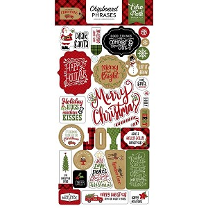 Celebrate Christmas Phrases Chipboard Stickers