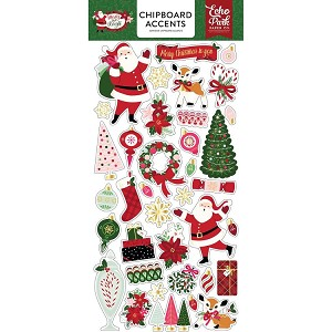 Merry and Bright Accents Chipboard Stickers