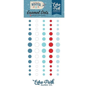 Celebrate Winter Enamel Dots
