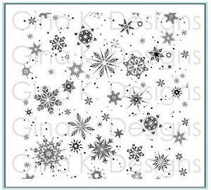 Delicate Snowflake Background Stamp