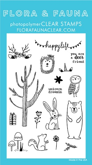 Woodland Happy Life Stamp Set