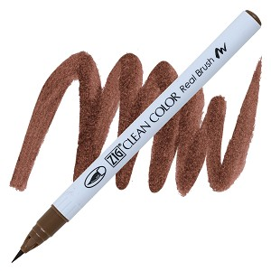 Clean Color Real Brush Marker Mid Brown