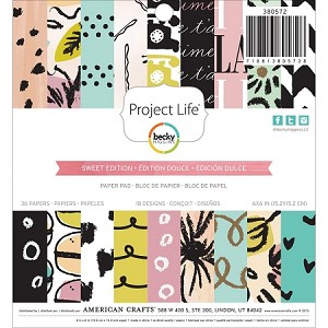 Sweet Edition Project Life 6x6 Paper Pad
